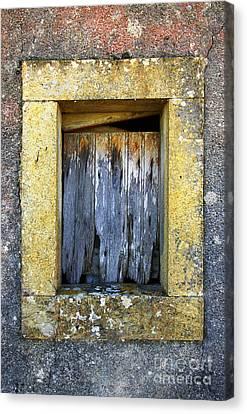 Ruined Window Canvas Print by Carlos Caetano