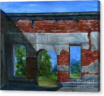 Ruins In Pleaant Hill Canvas Print by Lenora  De Lude