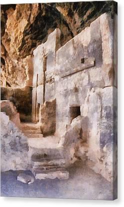 Overhang Canvas Print - Ruins by Michelle Calkins