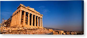 Ruins Of A Temple, Parthenon, Athens Canvas Print