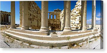 Ruins Of A Temple, Parthenon, The Canvas Print