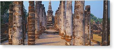 Ruins Of A Temple, Sukhothai Historical Canvas Print by Panoramic Images