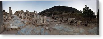Ruins Of A Temple, Temple Of Domitian Canvas Print by Panoramic Images