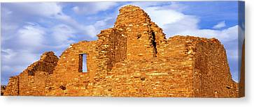 Ruins Of A Wall, Pueblo Del Arroyo Canvas Print by Panoramic Images