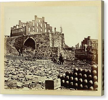 Ruins Of An Ammunition Store Canvas Print by British Library