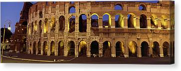 Ruins Of An Amphitheater, Coliseum Canvas Print by Panoramic Images