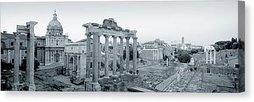 Ruins Of An Old Building, Rome, Italy Canvas Print by Panoramic Images