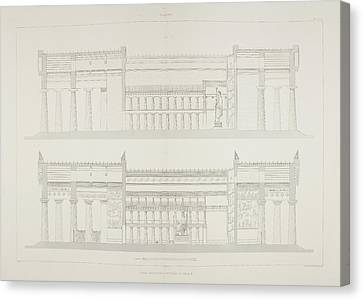 Ruins Of Ancient Sicilian Temple Canvas Print by British Library