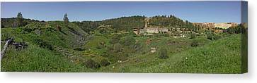 Ruins Of Buildings And Mining Effects Canvas Print by Panoramic Images