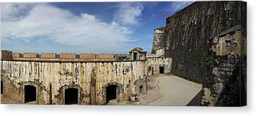 Castillo San Felipe Canvas Print - Ruins Of Castillo San Felipe Del Morro by Panoramic Images