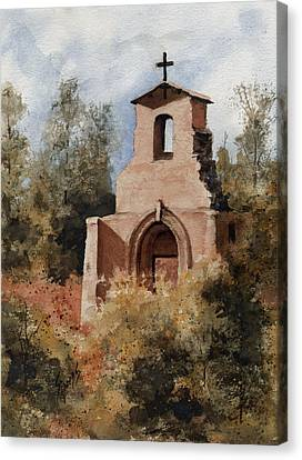 Ruins Of Morley Church Canvas Print by Sam Sidders
