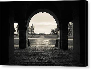 Ruins Of River Fort Designed By Vauban Canvas Print by Panoramic Images