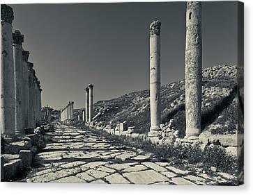 Ruins Of Roman-era Columns Canvas Print