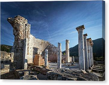 Ruins Of The Church Of Mary And Council Canvas Print by Reynold Mainse