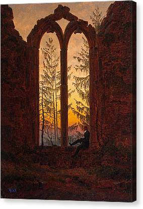 Ruins Of The Oybin Monastery The Dreamer Canvas Print by Philip Ralley