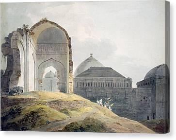 Ruin Canvas Print - Ruins Of The Palace Of Madra by Thomas Daniell
