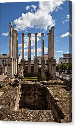 Ruins Of The Roman Temple In Cordoba Canvas Print by Panoramic Images