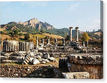 Ruins Of The Temple Of Artemis  Sardis Canvas Print by Reynold Mainse