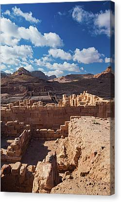 Nabatean Canvas Print - Ruins Of The Temple Of The Winged Lions by Panoramic Images