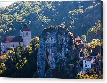 Ruins Of The Town Chateau Canvas Print by Panoramic Images