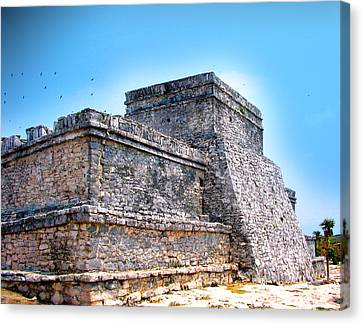 Ruins Of Tulum Mexico Canvas Print