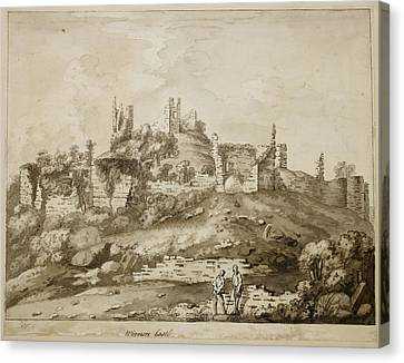 Ruins Of Wigmore Castle Canvas Print by British Library