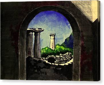 Ruins Canvas Print by Salman Ravish