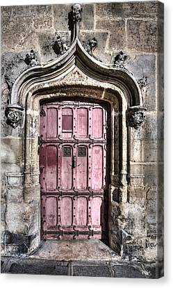 Ruins With Red Door Canvas Print by Evie Carrier