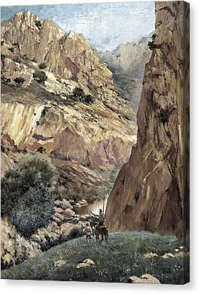 1616 Canvas Print - Ruiz Luna, Justo. Don Quixote At Sierra by Everett