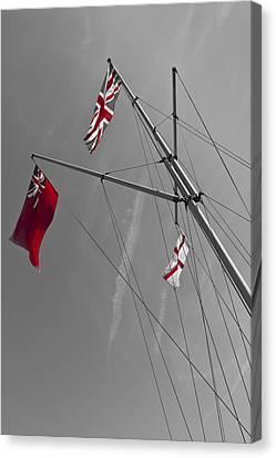 St George Day Canvas Print - Rule Britannia by David Pyatt