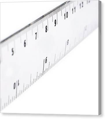 Ruler Canvas Print by Science Photo Library