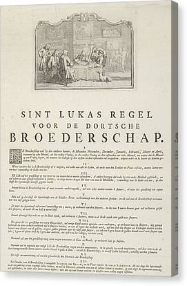 Rules Of The Brotherhood Of St Luke From Dordrecht, 1736 Canvas Print by Artokoloro