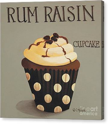 Rum Raisin Cupcake Canvas Print