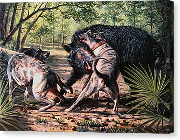 Rumble In The Palmetto Canvas Print by Mike Roberts