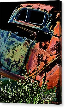 Rumble Seat Canvas Print by Barbara D Richards