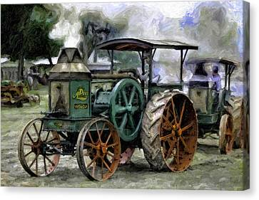 Rumely Oil Pull Ready To Roll Canvas Print by F Leblanc