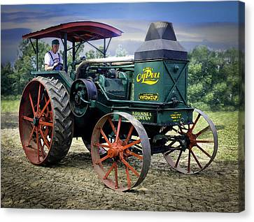 Rumely Oil Pull Vintage Tractor Canvas Print by F Leblanc