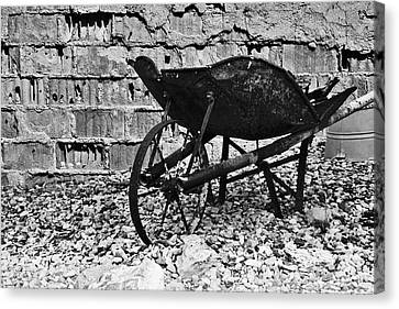 Dirt Canvas Print - Run-down Wheelbarrow by Christine Till