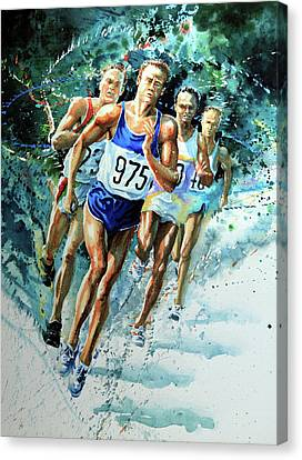 Run For Gold Canvas Print by Hanne Lore Koehler