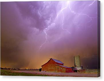 Barn Canvas Print - Run For The Barn by James BO  Insogna