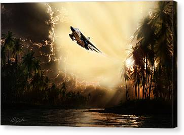 Run Through The Jungle Canvas Print by Peter Chilelli