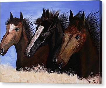 Run With Endurance Canvas Print by Kat Poon