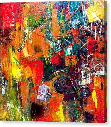Canvas Print featuring the painting Runaround by Katie Black