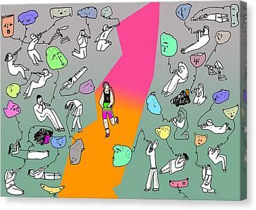 Runner Perdidor Canvas Print by Lino Divas