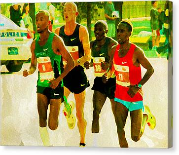 Runners Canvas Print by Alice Gipson