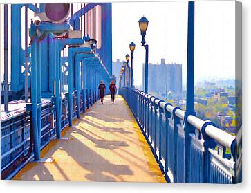 Running Across The Ben Canvas Print by Bill Cannon