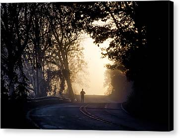 Running At Sunrise - Valley Forge Canvas Print