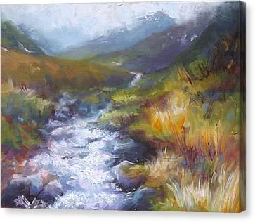 Running Down - Landscape View From Hatcher Pass Canvas Print by Talya Johnson