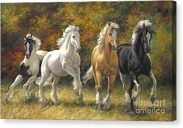 Running Free Canvas Print by Laurie Hein