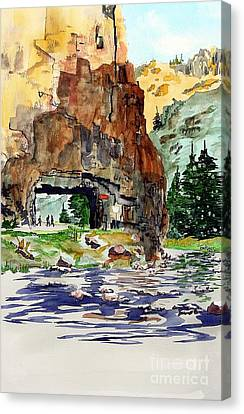 Running In The Poudre Canyon Canvas Print
